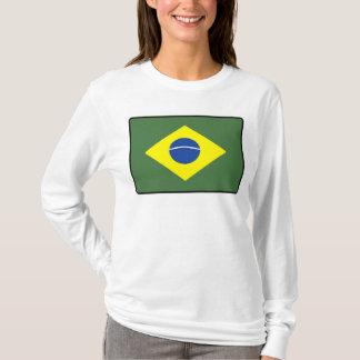 Brasilien flaggakvinnor t shirts
