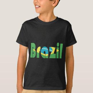 Brasilien flaggaT-tröja T-shirt