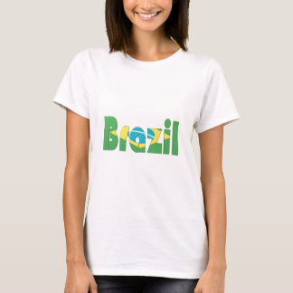 Brasilien flaggaT-tröja Tee Shirts