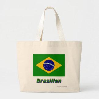 Brasilien Flagge mit Namen Kasse