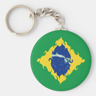 Brasilien Gnarly flagga Nyckel Ringar