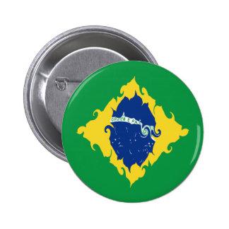 Brasilien Gnarly flagga Pins