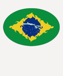 Brasilien Gnarly flaggaT-tröja