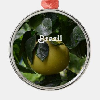 Brasilien grapefrukt julgransprydnad metall