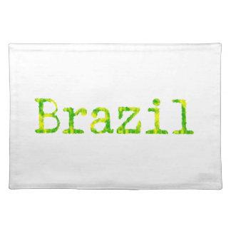 Brasilien grön och gul stilsort bordstablett