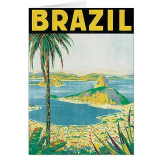 Brasilien vintage resoraffisch hälsningskort