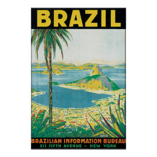 Brasilien vintage resoraffisch poster