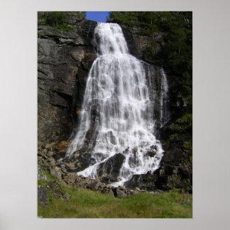 Brattefossen vattenfall affisch