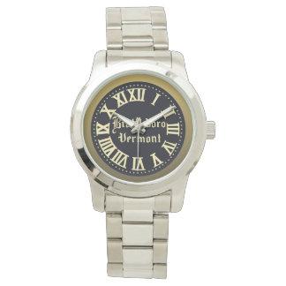 Brattleboro huvudsaklig gataklocka (mörk) armbandsur