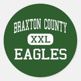 Braxton County - örnar - kick - Sutton Runt Klistermärke