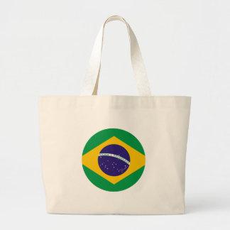 Brazil Flag Circle The MUSEUM Zazzle Canvas Bags