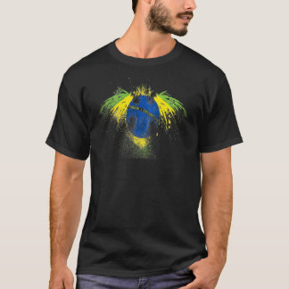 brazil flagga t-shirt