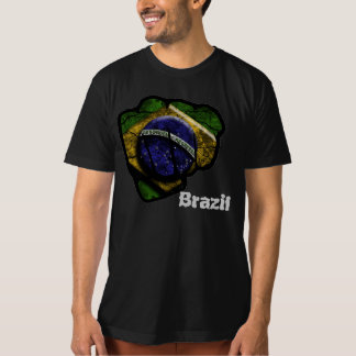 brazil flagganäve t-shirts