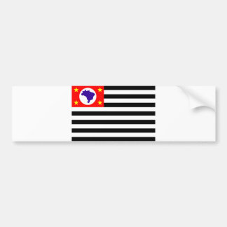 Brazil för Sao Paulo stadsflagga symbol Bildekal