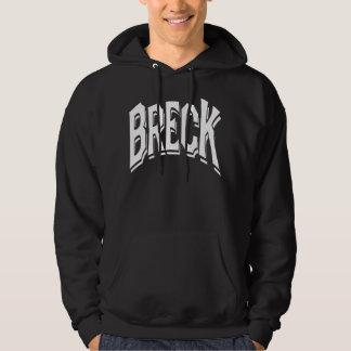 Breck skuggar logotypen för svart hoodie