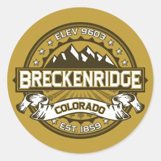 Breckenridge solbränna runt klistermärke
