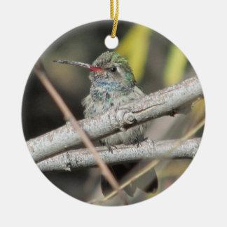 Bred-fakturerad Hummingbird Julgransprydnad Keramik