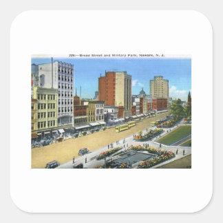 Bred St., Newark NJ vintage Fyrkantigt Klistermärke