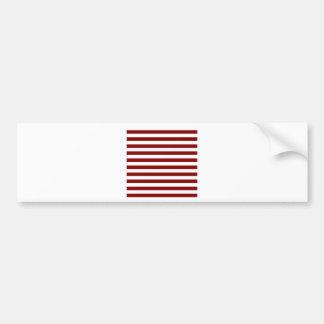 Breda randar - vit och rödbrunt bildekal