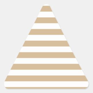 Breda randar - vit och solbränna triangelformat klistermärke