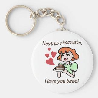 Bredvid choklad älskar jag dig som är bäst nyckel ringar