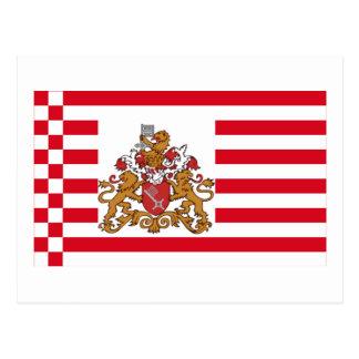Bremen flagga med mer underbar ärmar vykort