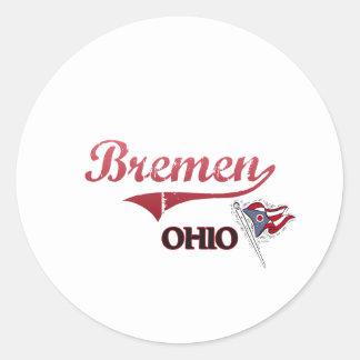 Bremen Ohio stadsklassiker Runt Klistermärke