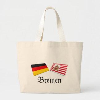 Bremen Tysklandflagga belägger med tegel Tote Bags
