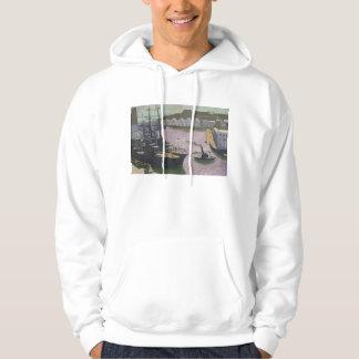Brest port, c.1932 sweatshirt med luva