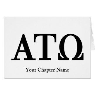Brev för alfabetiskTau Omega OBS Kort