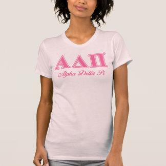 Brev för rosor för alfabetiskdeltaPi T-shirt