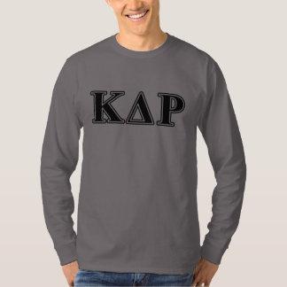 Brev för svart för PhiKappaTheta T-shirt