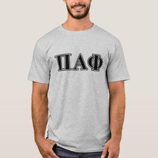Brev för svart för Pi-alfabetiskPhi T-shirt