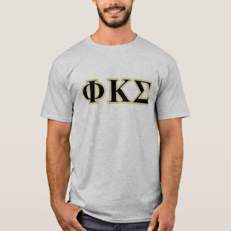 Brev för svart och för guld för PhiKappaSigma Tee Shirt