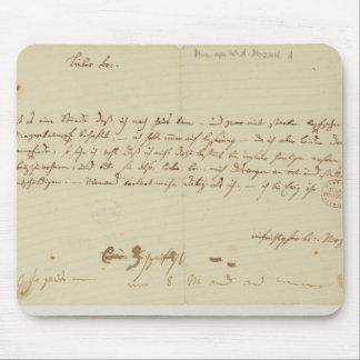 Brev från Mozart till en freemason, Januari 1786 Mus Mattor