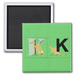 Brev - K - känguru Magnet