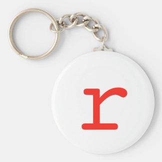 Brev R Rund Nyckelring