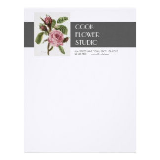 Brevhuvud för blomsterhandlare för rosa grå färgan