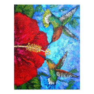 Brevhuvud med att måla för Hummingbirds