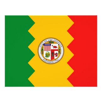 Brevhuvud med flagga av Los Angeles, Kalifornien