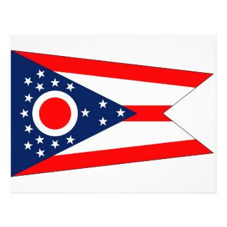 Brevhuvud med flagga av Ohio, USA