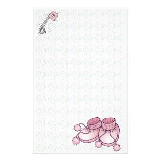 Brevpapper för babyBootie rosor
