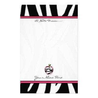 Brevpapper för lärare för zebra tryckApple mode