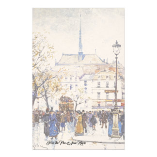 Brevpapper för mode för plats för gata för Paris