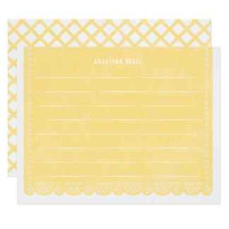 Brevpapper för papperssnittbaner - citron 10,8 x 14 cm inbjudningskort