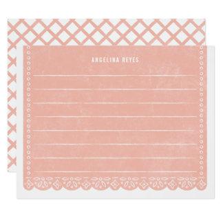 Brevpapper för papperssnittbaner - lax 10,8 x 14 cm inbjudningskort