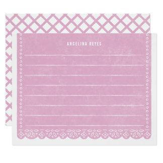 Brevpapper för papperssnittbaner - lila 10,8 x 14 cm inbjudningskort