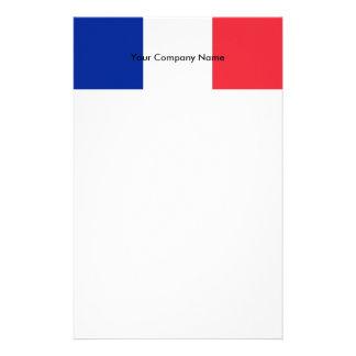 Brevpapper med flagga av frankriken