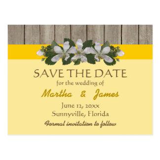 Briaren lappar/gul landsbyggsbröllop för Freesia Vykort