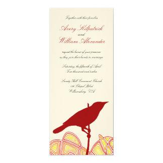 Brid bröllop 10,2 x 23,5 cm inbjudningskort